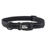 Rok Straps Reflective Black Dog Collar