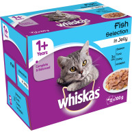 Whiskas 1+ Fish Selection in Jelly Cat Food Pouches