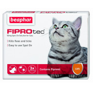 Beaphar FIPROtec Spot On for Cats 3 Pipettes