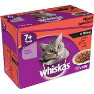 Whiskas 7+ Meat Selection in Gravy Senior Cat Food 100g x 12