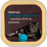 Waitrose Terrine Rich in Salmon Cat Food 100g x 17