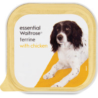 essential Waitrose Terrine with Chicken Dog Food 150g x 11