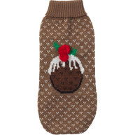 House of Paws Christmas Pudding Dog Jumper 14""