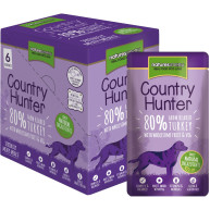 Natures Menu Country Hunter Turkey  Pouches Adult Dog Food 150g x 6