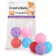 Sharples Pet Cryst a Balls Cat Toy 4 Balls