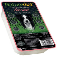 Naturediet Salmon Vegetables & Rice Sensitive Dog Food 390g x 72