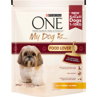 Purina ONE My Dog Is...Food Lover Turkey & Rice Adult Dog Food 800g