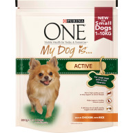 Purina ONE My Dog Is...Active Chicken & Rice Small Adult Dog Food 800g