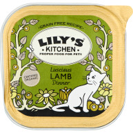 Lilys Kitchen Organic Luscious Lamb Dinner Complete Wet Food for Cats 100g x 16