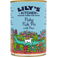 Lilys Kitchen Fishy Fish Pie with Peas Dog Food 400g x 6