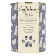 Cuffleberry & Co Beef Venison Apricots & Green Beans Adult Dog Food