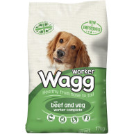 Wagg Complete Worker Beef 17kg