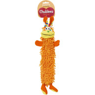 Chubleez Noodle Buddy Unstuffed Orange Dog Toy