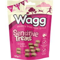 Wagg Sensitive Lamb & Rice Dog Treats 125g