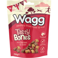 Wagg Tasty Bones with Chicken & Liver Dog Biscuits