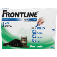 Frontline Flea Spot On Cat 0.5ml x 3 pipettes