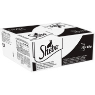 Sheba Poultry Collection in Gravy Adult Cat Food Pouches