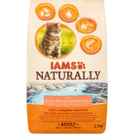 IAMS Naturally North Atlantic Salmon Dry Adult Cat Food 2.7kg