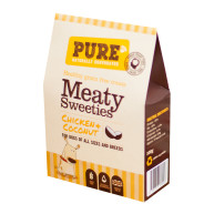Pure Pet Food Meaty Sweetie Dog Treats Chicken & Coconut - 100g