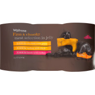 Waitrose Meat Selection in Jelly Adult Dog Food 400g x 6