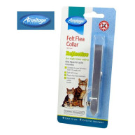 Armitage Felt Flea Collar Silver for Cats