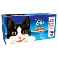 Felix Fish Selection In Jelly Pouch Cat Food 100g x 40