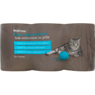 Waitrose Fish Selection in Jelly Cat Food 400g x 6