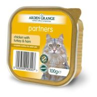 Arden Grange Partners Chicken with Turkey & Ham Adult Cat Trays