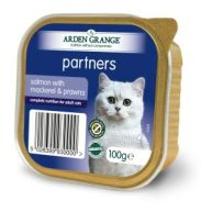 Arden Grange Partners Salmon with Mackerel & Prawns Adult Cat Trays