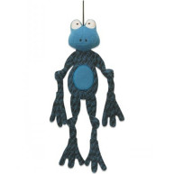 Hugglehounds X-brace Henri The Frog Large Dog Toy