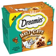 Dreamies Deli Catz Assorted Cat Treats Turkey - 5g x 5