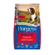 Burgess Supadog Complete Beef Adult Dog Food  15kg