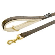 Dogs & Horses Classic Colours Leather Dog Lead Brown & Cream