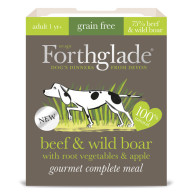 Forthglade Gourmet Beef & Wild Boar with Root Vegetables & Apple Adult Dog Food
