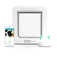 Sureflap Microchip Pet Door Connect for Cats & Small Dogs Pet Door & Hub Bundle