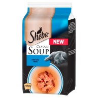 Sheba Classic Soup Pouches with Tuna Fillets Adult Cat Food
