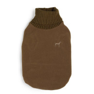House Of Paws Fleece & Knit Choco Dog Jumper Small
