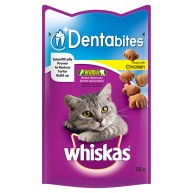 Whiskas Pouch Dentabites Chicken Adult Cat Treats 50g Chicken