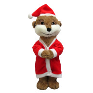 Good Boy Santa Meerkat Dog Toy