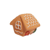 Rosewood Squeaky Gingerbread House Dog Toy