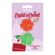 Rosewood Cupid & Comet Flashing Party Balls Christmas Cat Toys