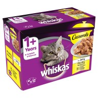 Whiskas 1+ Casserole Poultry Selection in Jelly Adult Cat Food