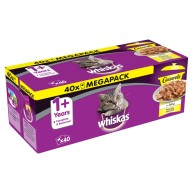 Whiskas 1+ Casserole Poultry Selection Adult Cat Food  85g x 40