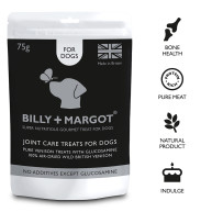 Billy & Margot Venison Treats with Joint Care 75g