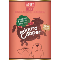 EdgardCooper Beef, Cranberry & Broccoli Wet Adult Dog Food 400g x 6