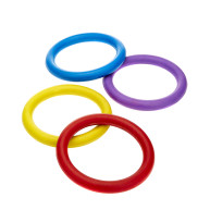 Classic Solid Rubber Ring Dog Toy