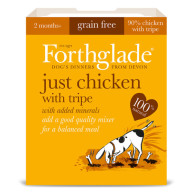 Forthglade Just Chicken & Tripe Dog Food 395g x 18