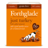 Forthglade Just Turkey Grain Free Dog Food 395g x 18