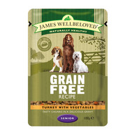James Wellbeloved Turkey Senior Dog Grain Free Pouches