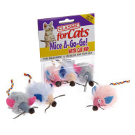 Classic Wide Eye Shaggy Mice Cat Toys